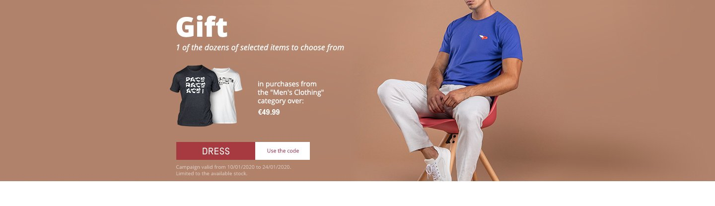 offer men clothing