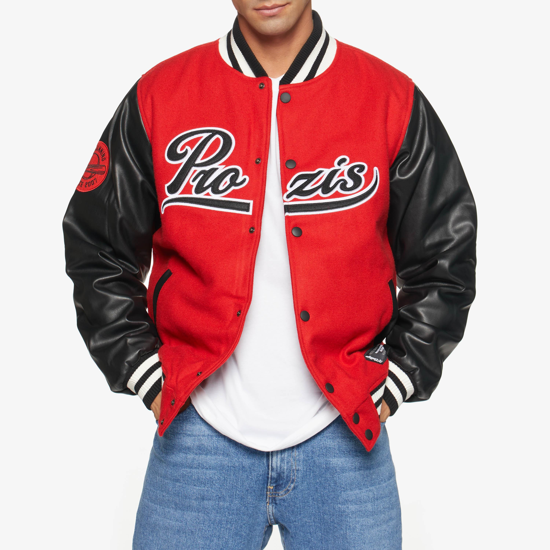 X College Varsity Jacket High Red M
