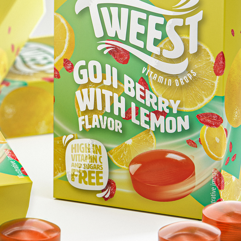 Tweest Vitamin Drops Goji Berry With Lemon Flavor 50 G Bars