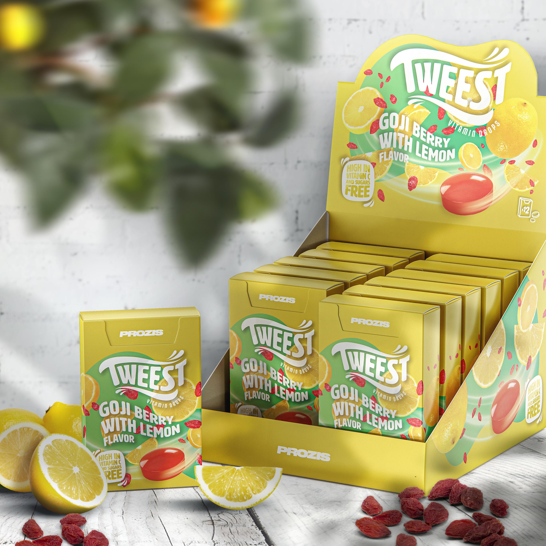12 X Tweest Vitamin Drops Goji Berry With Lemon Flavor 50 G