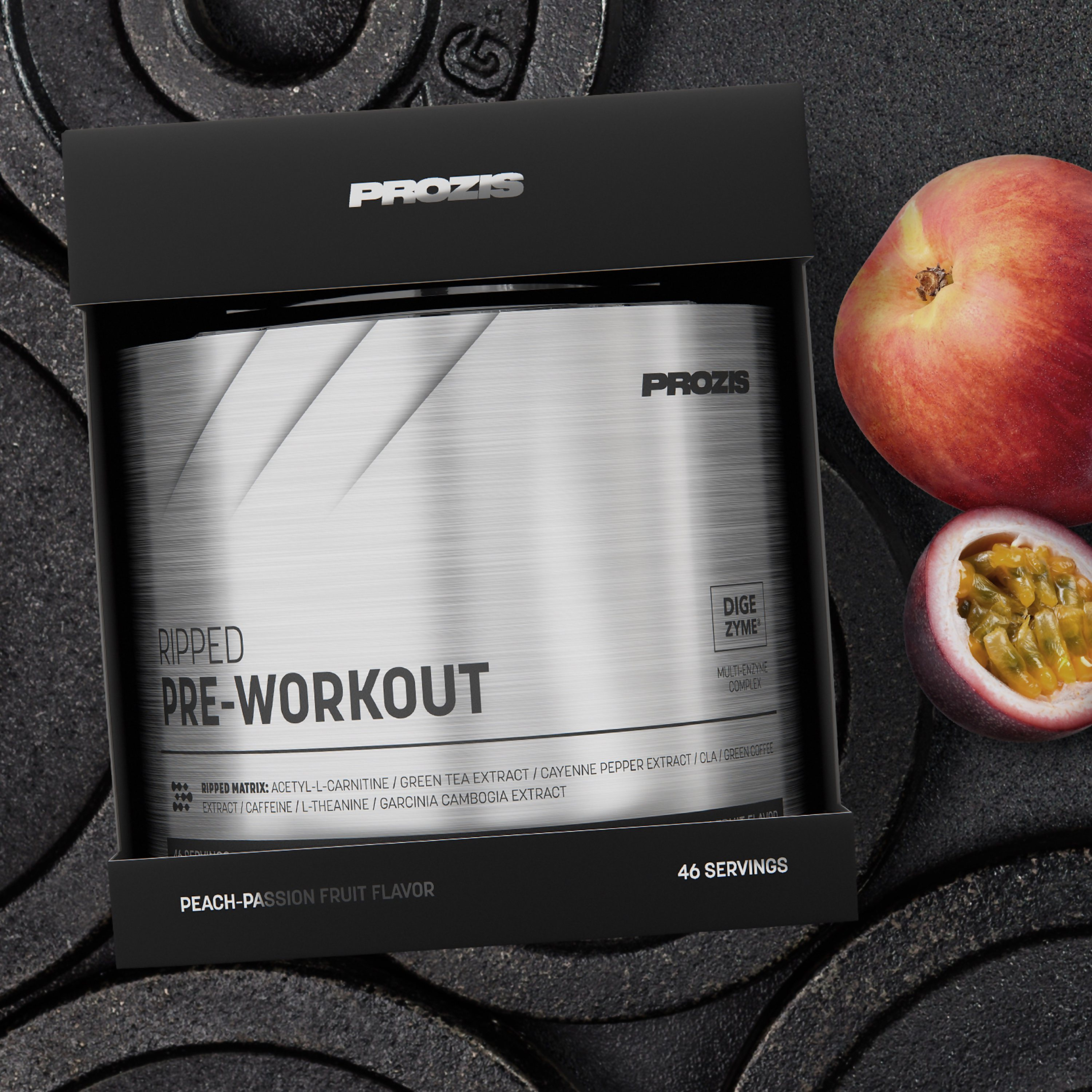 Ripped Pre Workout 46 Servings Build Muscle Prozis