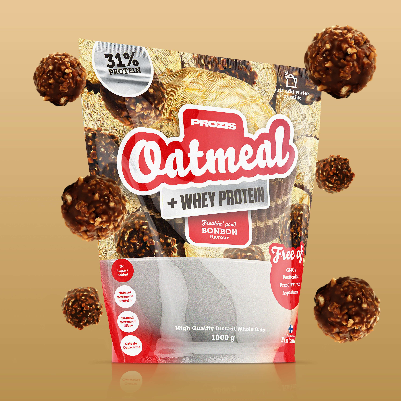 2 x Prozis Oatmeal Whey Protein 1000g Chocolate Brownie