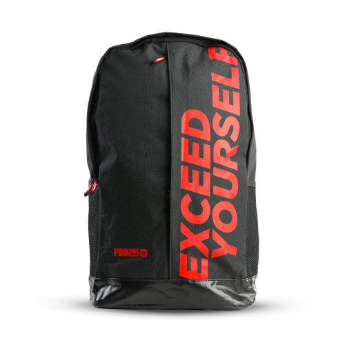Exceed Yourself Black-Red Backpack