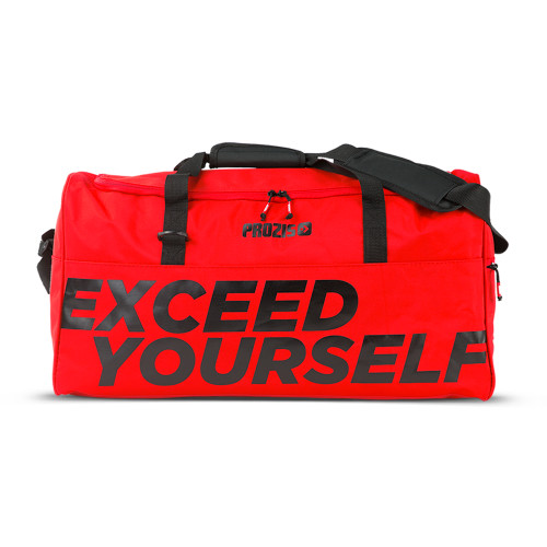 Exceed Yourself Red-Black Gym Bag
