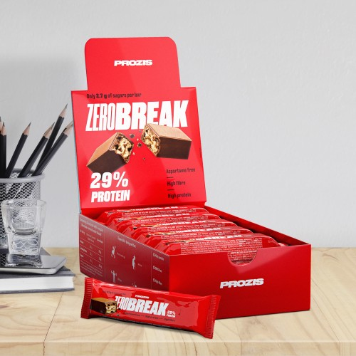 12 x ZeroBreak - Crunchy Protein Chocolate 49 g