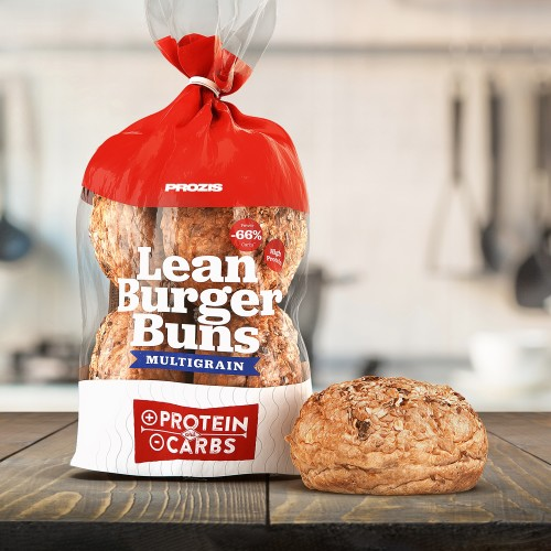 Lean Burger Buns - Pain à Hamburger Multicéréales 340 g