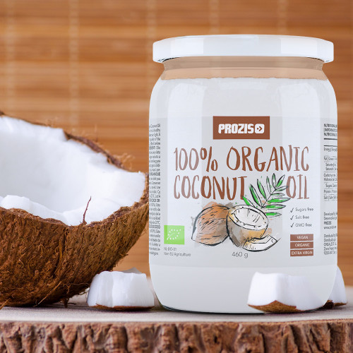 100% Organic Coconut Oil 460 g (500 mL)