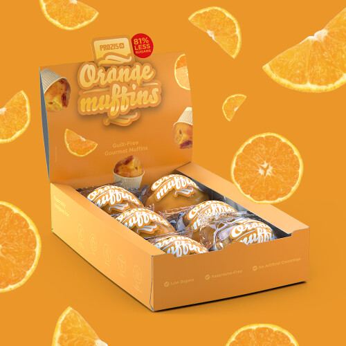 6 x Orange Muffins - Low Sugar Muffins 60 g
