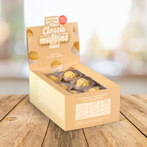 12 x Classic Mini Muffins - Low Sugar Muffins 30 g