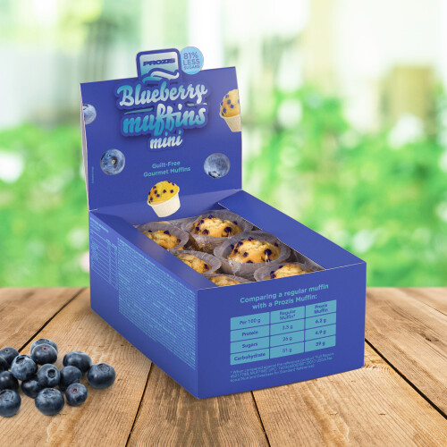 12 x Blueberry Mini Muffins - Low Sugar Muffins 30 g