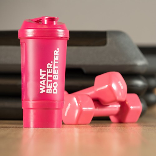 Want Better. Do Better. Shaker with compartment 500 ml