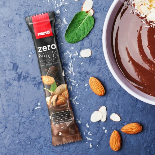 Zero Milk Chocolate with Almonds 27 g
