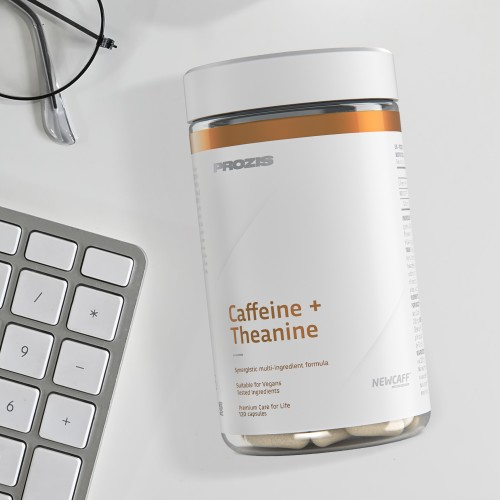 Caffeine + Theanine (100 mg + 200 mg) 120 caps