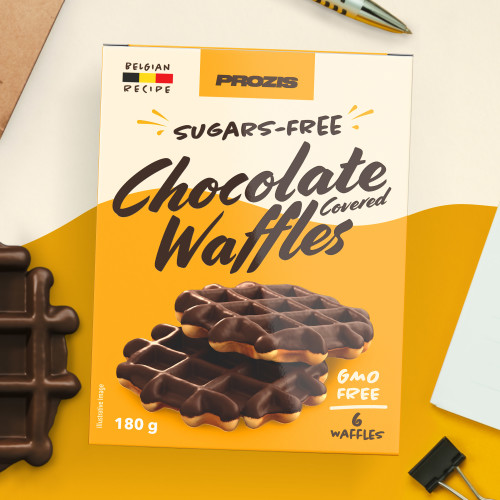 6 x Sugars-Free Chocolate Covered Waffles 30 g