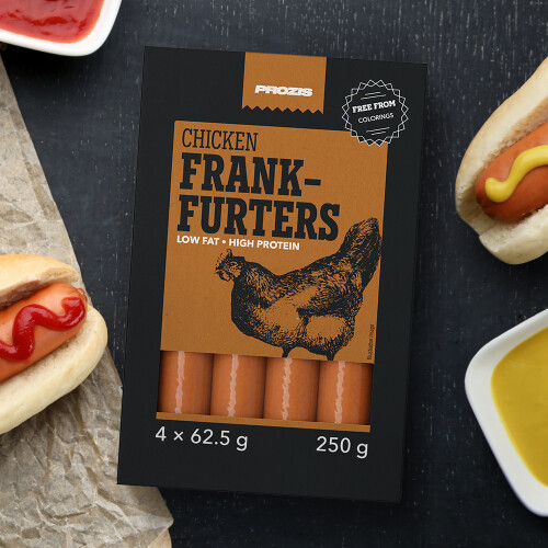 Chicken frank-furters 250 g (4 x 62.5 g)
