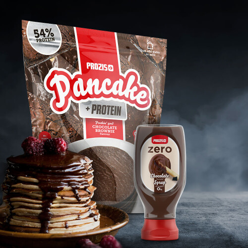 Pancake + Protein – Oat Pancakes with Protein 900 g + Zero Chocolate Syrup 290 g