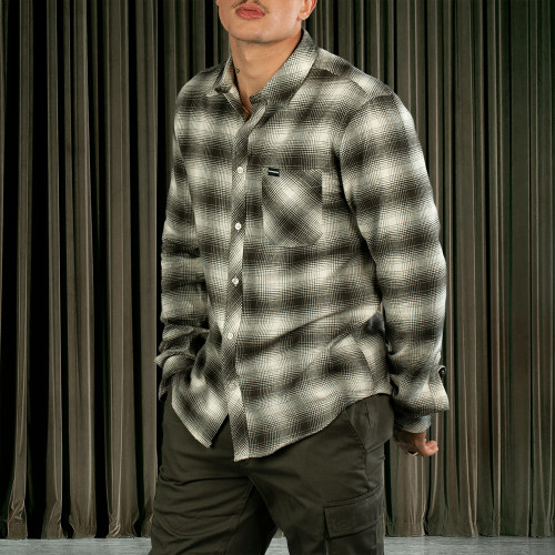 Wild Thing Flannel Shirt - Adams Black and Cream