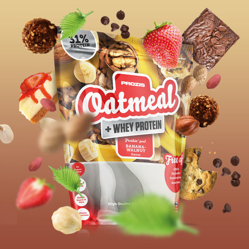 Oatmeal + Whey - Avoine + Whey 4000 g