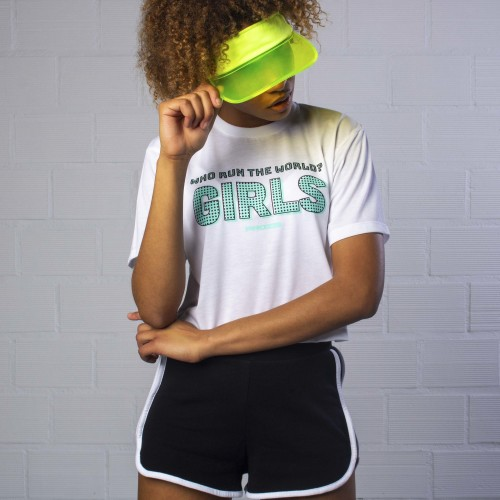 Power Up Crop T-Shirt - Who Run the World
