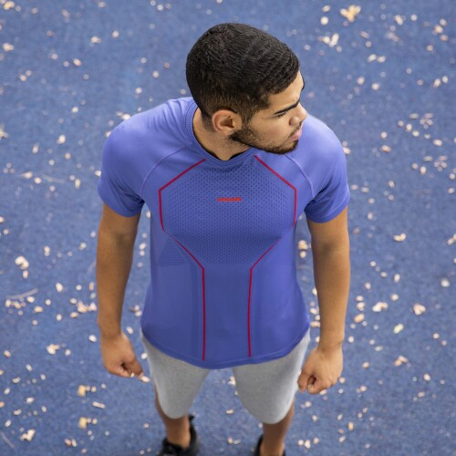 X-Skin Wood T-Shirt - Ultramarine Blue