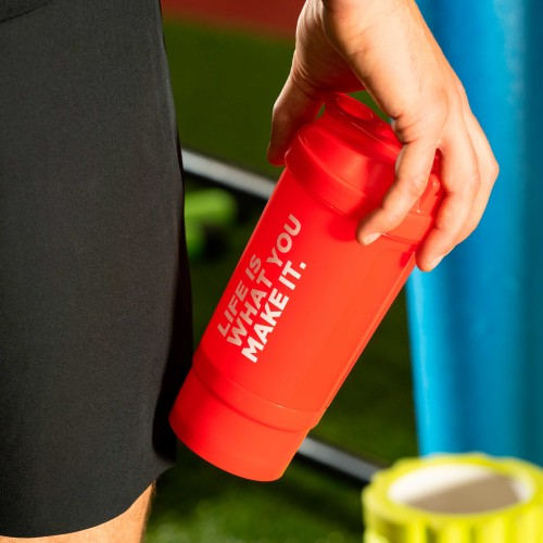 Life Is What You Make It. Shaker with compartment 500 ml