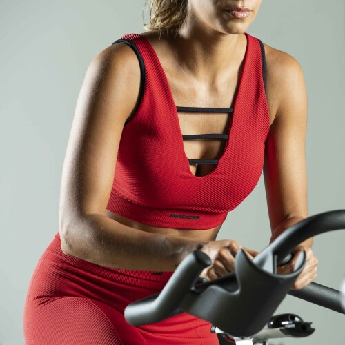 X-Skin Sports Bra - Leo Haute Red