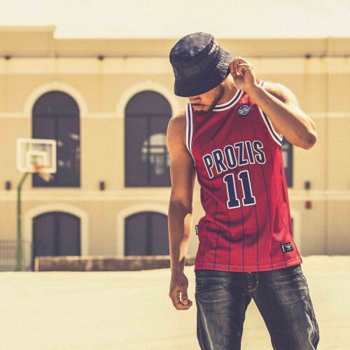 X-College Basketball Jersey - True Red