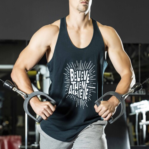 Camisola Sem Mangas Power Up - Believe then Achieve
