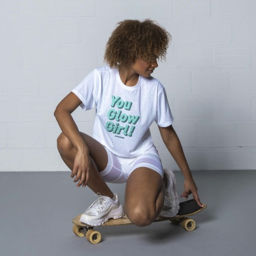 Crop T-Shirt Power Up - You Glow Girl
