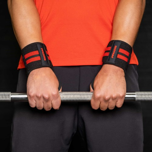 Prozis Wrist Wraps - Pair (2) Black / Red