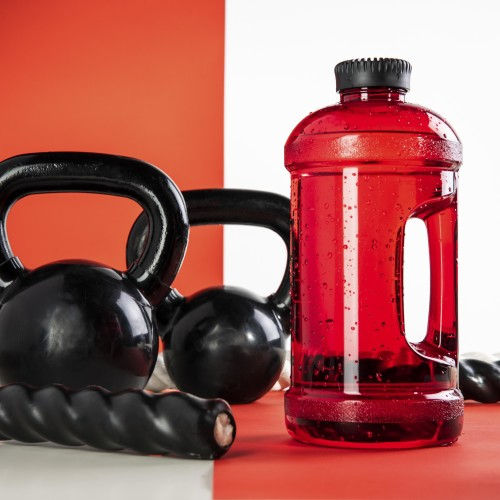 No pain. No Gain. 2L Gym Jug - Red