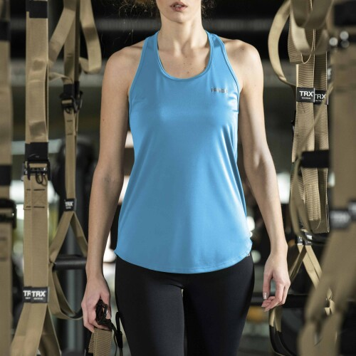 X-Gym Woman Singlet - Ace Blue