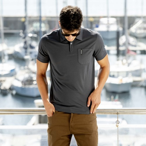 Breezy Men Polo - Iron Gray