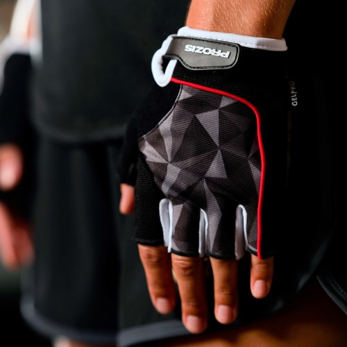 Woman Fitness Gloves - Black/Red