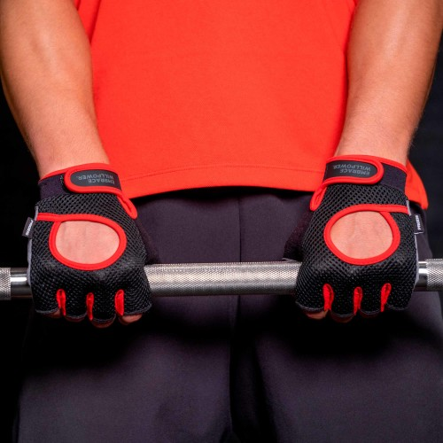 Airflow Fitness Gloves - Black/Red