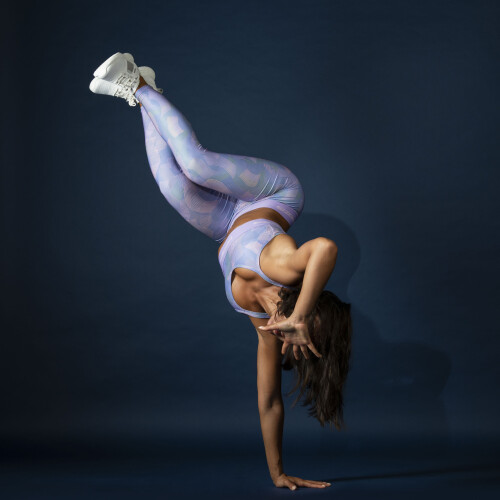 Leggings X-Spirit - Ripple Lilac