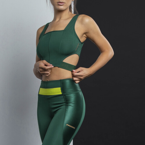 X-Sense Crop Top - Duhat Green