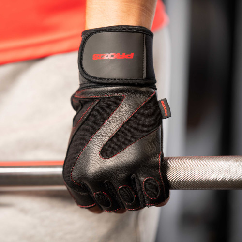 Professional Wrist Protection Gloves - Black/Red