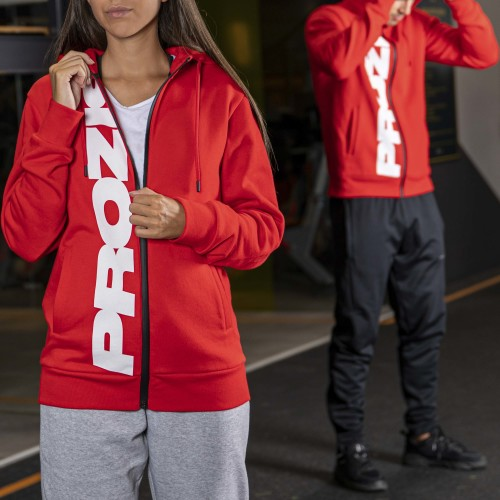Exceed Yourself Zipped Hoodie - Red