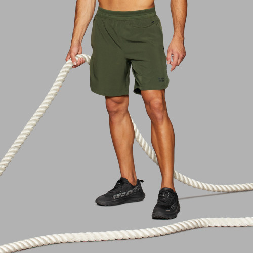 Short de course Army - Mustang Olive Green