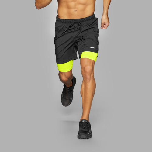Lauf-Shorts - Holster Black / Volt