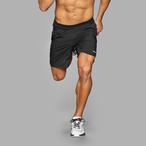 Running Shorts - Mustang Black