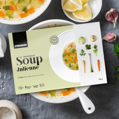 Dehydrierte Suppe- Julienne 100 g - 8 Portionen