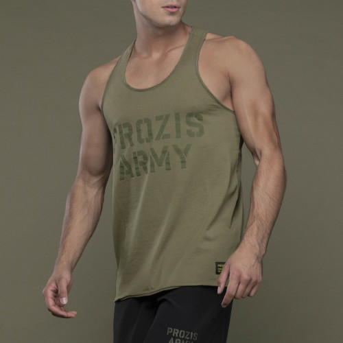 Army Tank Top - Prozis Army Khaki