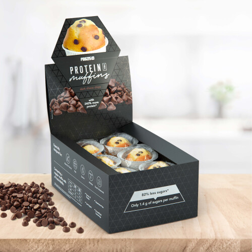 12 x Protein Mini Muffins - Dark Choco Chips 30 g
