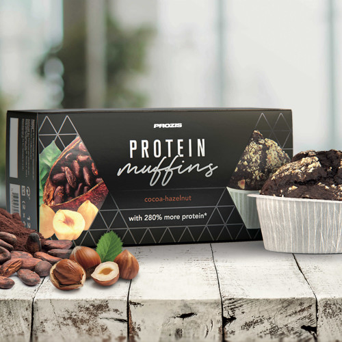 2 x Protein Muffins - Cacao y avellanas 60 g