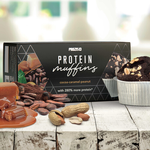 2 x Protein Muffins - Cocoa-Caramel-Peanut  60 g
