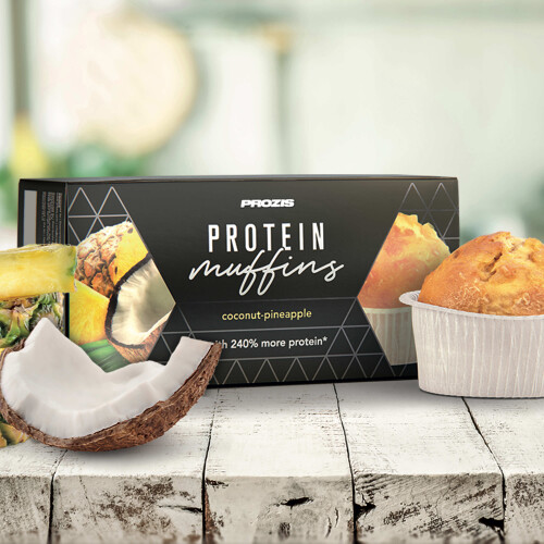 2 x Protein Muffins - Coco e Ananás 60 g