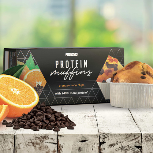 2 x Protein Muffins - Orange-Choco Chips 60 g
