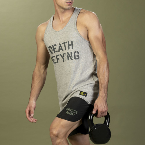 Army Tank Top - Death Defying Grey